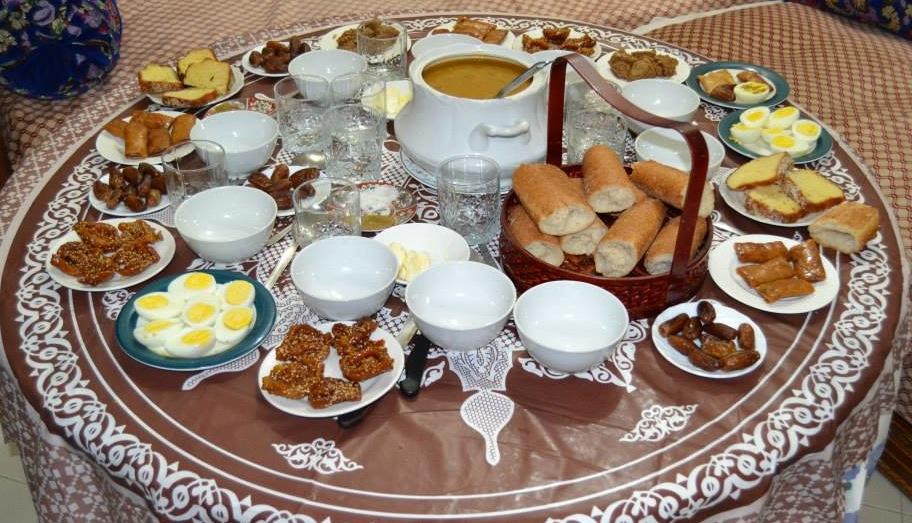 Moroccan Ramadan Breakfast