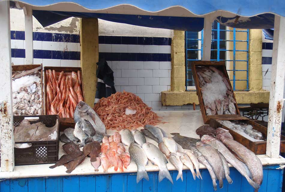 Moroccan fish vendors