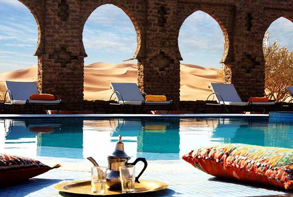 Moroccan Hotel Sahara view