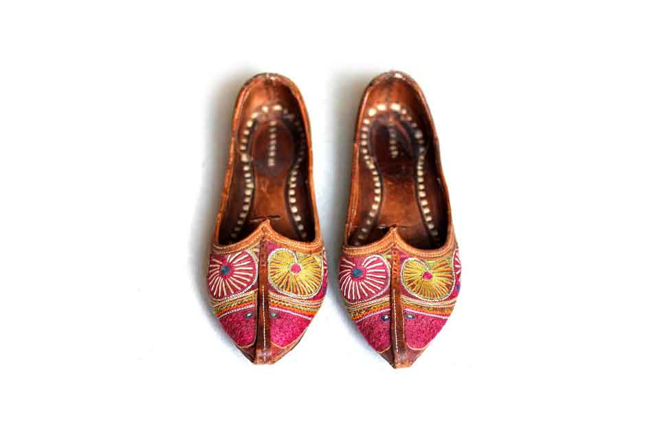 Traditional handmade Moroccan shoes