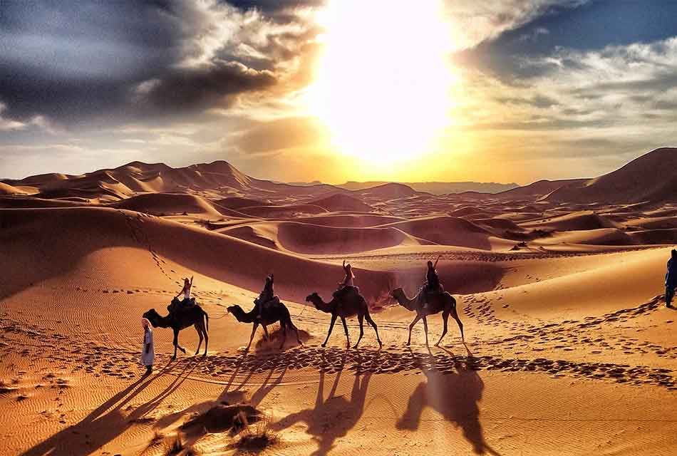 moroccan desert  ,A beautiful sunset